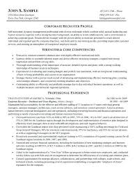 College Recruiter Sample Resume Delectable Market Research Company Profile Sample College Recruiting Player