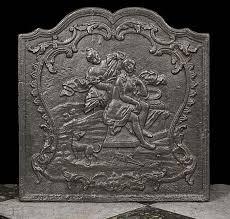 cast iron fireback. Antique French Cast Iron Fireback