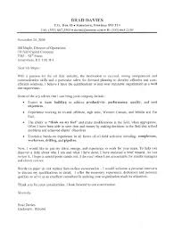 Oil Field Supervisor Cover Letter Sample All Trades