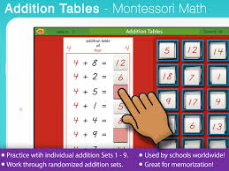 Addition Tables Mobile Montessori