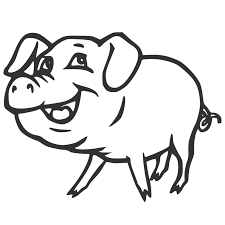 Cartoon Pig Coloring Coloring Pages Varkens Kleurplaten