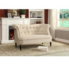 Contemporary Victorian Furniture erica victorian style contemporary beige  linen fabric upholstered