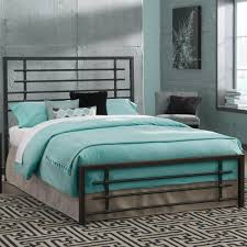 Metal Bed Frame - Carbon Steel with Rustic Pewter Finish Folding Bed Frame