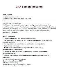 Cna Resume Sample Amazing Cna Resume No Experience Resume Sample For Resume Summary Sample Of
