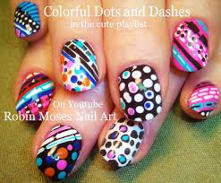Nail Art Tutorial | Stripes and Polka DOT Nails | Fun and Crazy ...