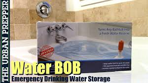 waterbob emergency drinking water storage 41 day test