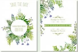 wedding invitation card template nature