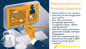 the best summary generator how to choose summary generator