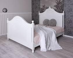 Holzbett Landhaus Bett 160x200 Himmelbett Weiss Kinderbett Antik