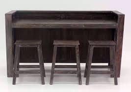 shane bar and sofa table set brown