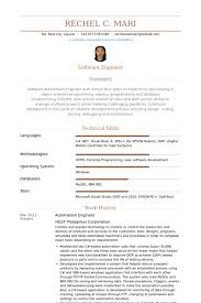 Domestic Engineer Resume Sample Best Of Automation Resumes Benialgebraincco