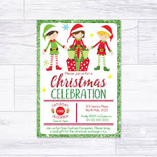 Christmas Inviations Details About Christmas Invitations Personalised Elves Elf Party Invites Celebration Xmas