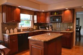 kitchen staining cabinets darker mosaic backsplashes with hardwood floor cool white granite countertop basement paint colors