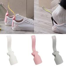 <b>1pc Lazy Shoe Horn</b> Unisex Shoes Wear Helper Colorful Shoehorn ...