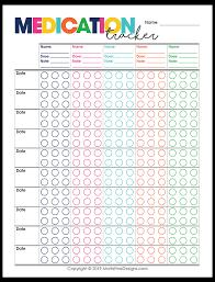Prescription Medication Tracker Moritz Fine Designs