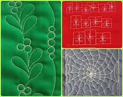 15 Free Motion Quilting Holiday Patterns | FaveQuilts.com &  Adamdwight.com
