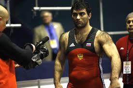 Hairy muscle women wrestle men