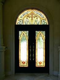 extraordinary stained glass exterior door front insert idea metal window light uk french paint wood