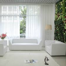 Solid White Bedroom Cotton Sheer Curtains, Buy White Sheer Curtains ...