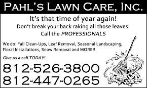 lawncare ad pahls lawn care inc newspaper ad david jones
