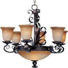 aspen 9 light oil rubbed bronze chandelier