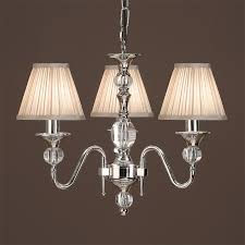 interiors 1900 polina 3 light chandelier polished nickel crystal lx124p3n from easy lighting