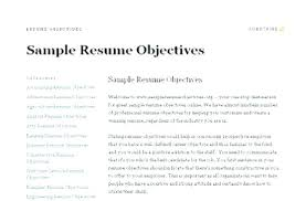 The Objective On A Resume Delectable Examples Of Objectives In A Resume Sample Objective Resume Resume