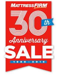 mattress firm ad. Mattress Firm 30th Anniversary Sale 1986-2016 Ad