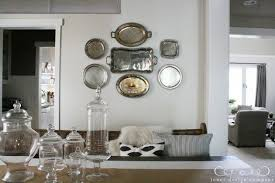 Decorating With Silver Trays how to hang platters on the wall Jones Design Company 32