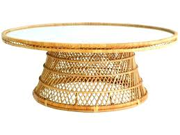 round wicker coffee table rattan ottoman round fascinating round wicker ottoman round wicker coffee table fresh mid century woven inside wicker trunk coffee