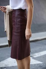 h burdy bcbg a line leather skirt camel wrap coat vest lariat necklace spectator tory burch