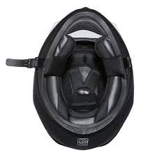 daytona detour hi gloss black full face vintage bike dot motorcycle helmet