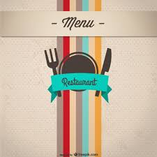 restaurant menu cover free vector