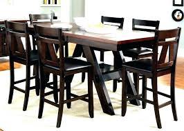 black counter height dining set 9 piece espresso table medium drew dark round ta