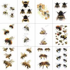Hxman 12 штпартия временная тату наклейка для пчелы животных