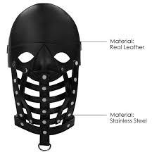 Купить Ouch! <b>Маска</b>-<b>шлем Leather Male Mask</b> (PAI011), черный по ...
