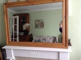 large mirror over mantle mirror for