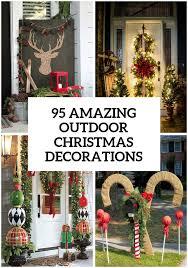 Outdoor Christmas Decor 95 Amazing Outdoor Christmas Decorations Christmas  Pinterest