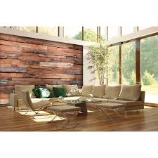 ideal decor 100 in h x 144 in w reclaimed wood wall mural