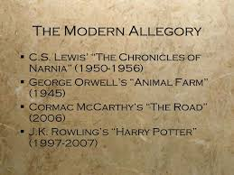religious allegory and allegory throughout history ppt the modern allegory iuml130sect c s