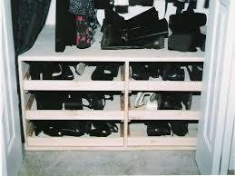 image of diy shoe rack for closet