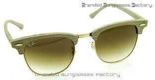 ray ban rb3016 clubmaster sunglasses white ash wood frame brown grant lens 51mm