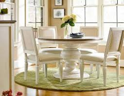 universal furniture summer hill 5pc round single pedestal dining set w pierced back chairs in