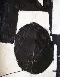 abstract painting modern black and white art by modern707 on