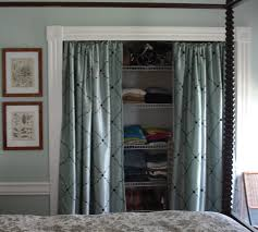 cottage bedroom closets | ditched the closet doors, and instead of  replacing them with bifold