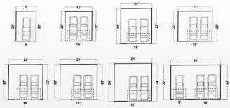Garage Doors  Garage Door Size Cars Dimensions Contemporary Floor Double Car Garage Size