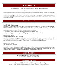 Physical Education Teacher Resume Resume Templates