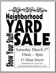 Garage Sale Flyer Template Word Sample Yard Poster C