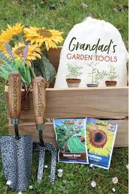 personalised garden tool set by