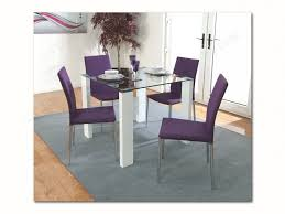 annaghmore atlantis clarus dining table with 4 purple dining chairs